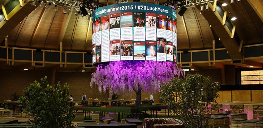 Lush Curved LED Screen Hire - Fonix LED