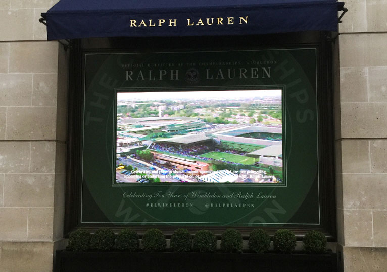 Ralph Lauren Bond Street LED Screen - Fonix LED